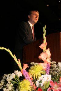 Senator Michael Bennet, D, Colorado speaking at the DHCC in Denver CO, photographer Nick Teti