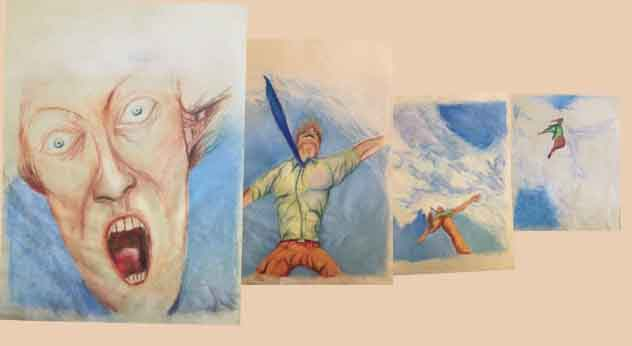 """Storyboard art by artist Nick Teti sample. """"See you later."""""""