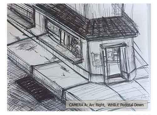 Storyboard Art, frame #1, by storyboard artist Nicholas Teti III