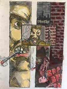 Comic book art by artist Nick Teti III, NIcholas, Mister Photon Media, Colorado. misterphoton.com (720) 299-2084
