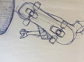"""Skateboarder"" storyboard artist Nick Teti III, misterphoton.com 1 (720) 299-2084"