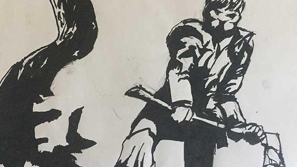 Tribute Art / Fan Artwork. Bernie Wrightson art tribute. Not for profit.
